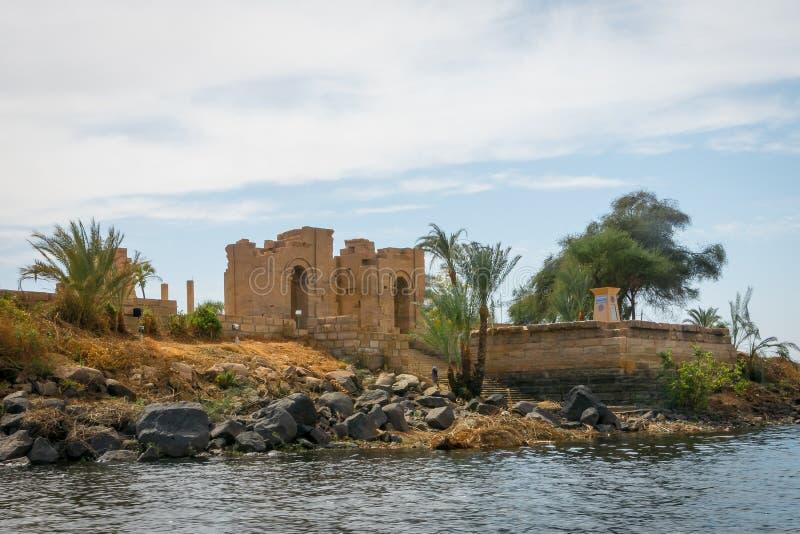 Egypt Tempel der Datei auf der kleinen Insel von Agilkia stockfoto