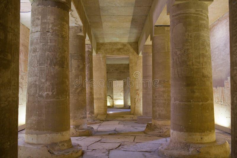 egypt temple στοκ εικόνες