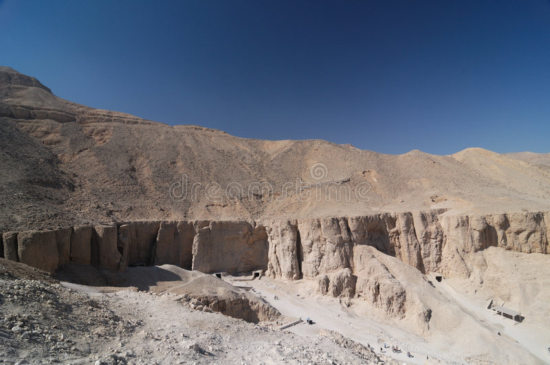 Egypt - Valley of the Kings. Valley of the Kings near Luxor, Thebes, Egypt stock images