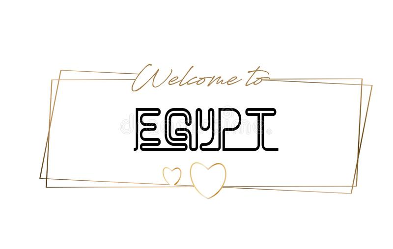 Egypt  Welcome to text Neon lettering typography. Word for logotype, badge, icon, postcard, logo, banner Vector Illustration vector illustration