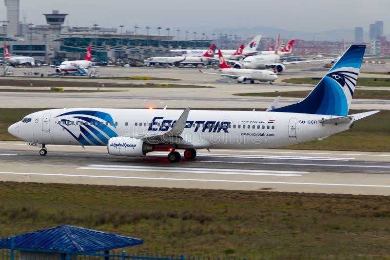EgyptAir Boeing 737-800 royalty-vrije stock fotografie