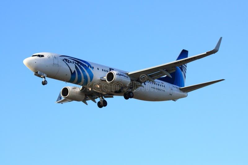 EgyptAir Boeing 737 royalty free stock photos