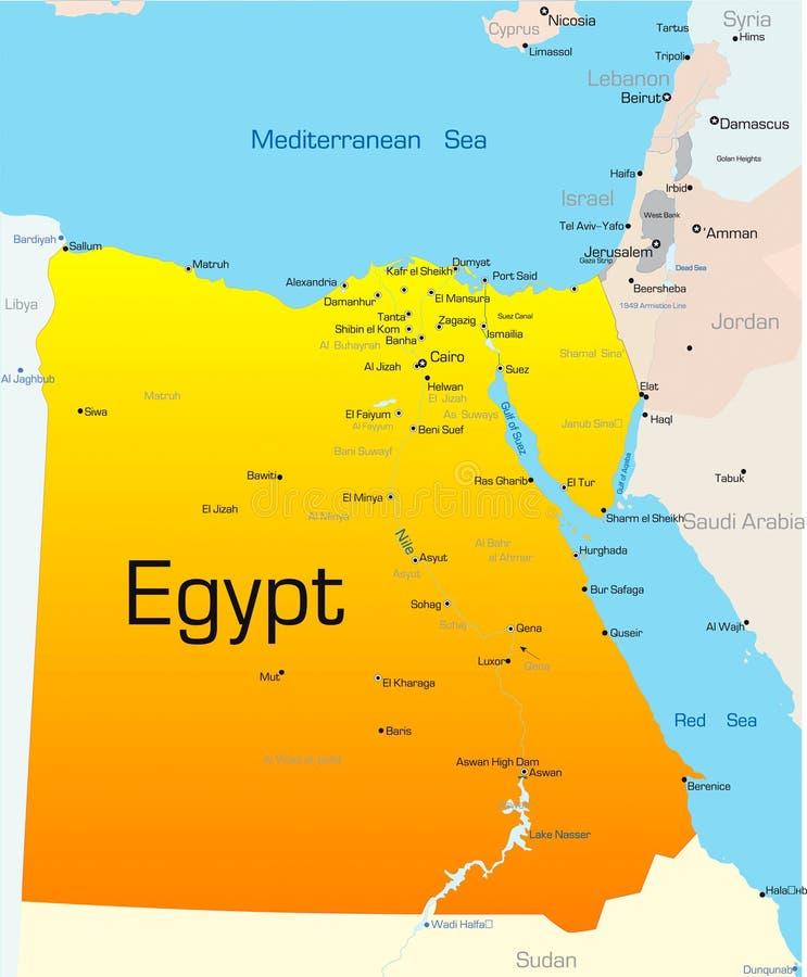 Egypte stock illustratie