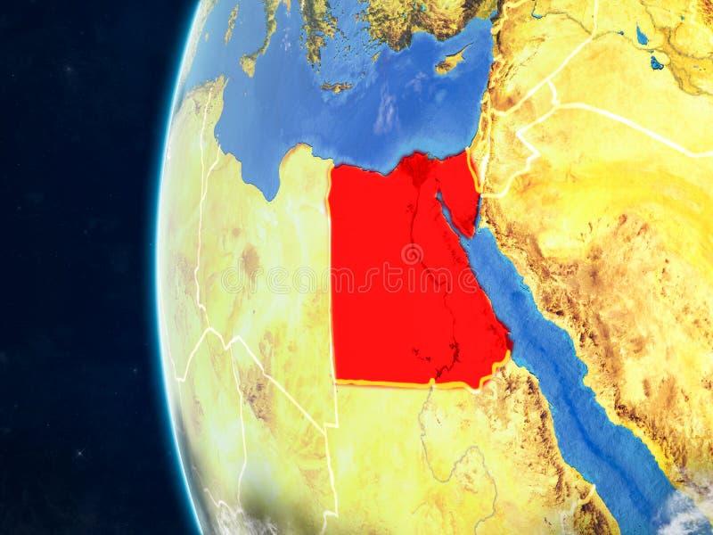Egypte op bol van ruimte vector illustratie