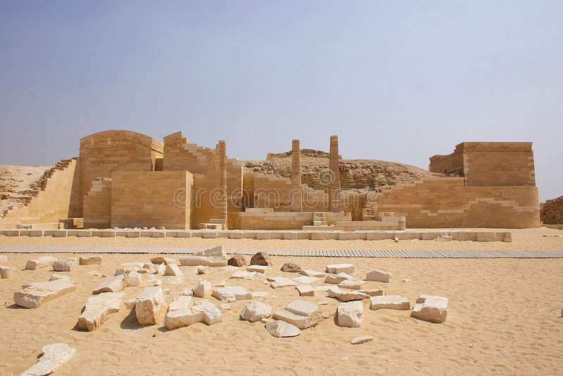 Egypte - saqqara stock foto