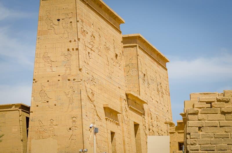 Egypte Tempel van Philae, tempel van ISIS royalty-vrije stock afbeeldingen