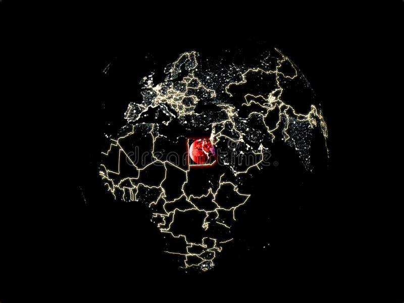 Egypte ter wereld van ruimte stock illustratie