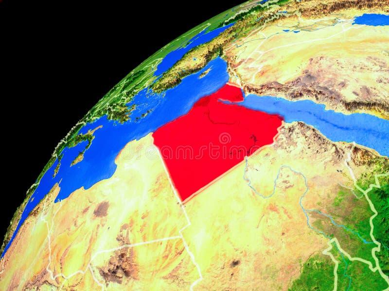 Egypte ter wereld van ruimte royalty-vrije illustratie