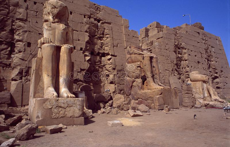 Egypte: Unesco-Wereld Heritage Tempel des Amun-Re in Karnak dichtbij Luxor stock afbeeldingen