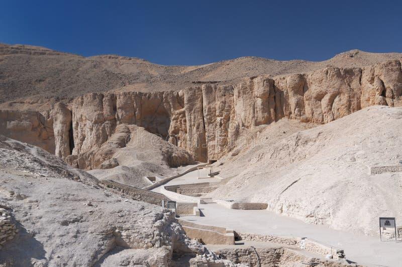 Egypte - Vallei van de Koningen royalty-vrije stock afbeelding