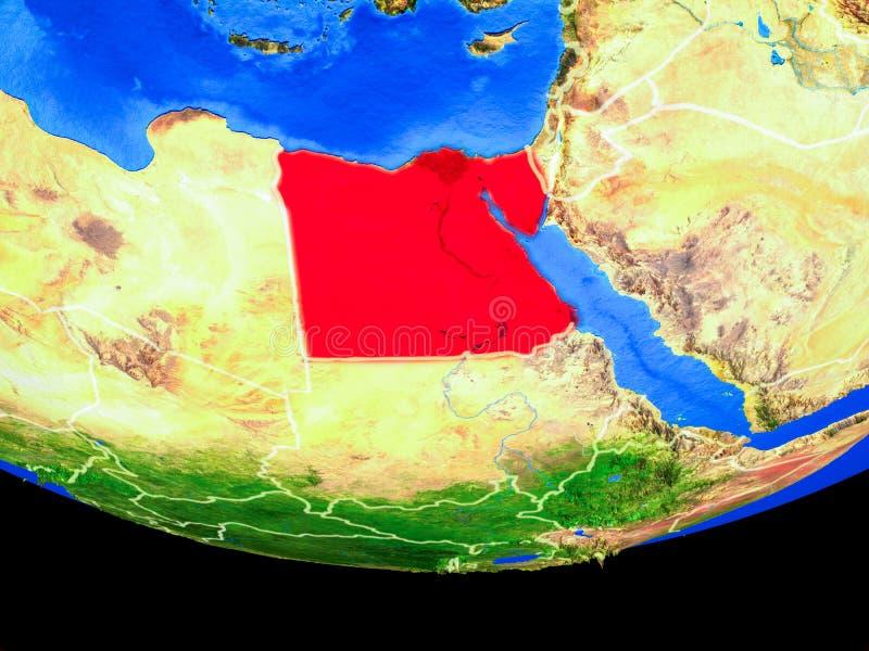 Egypte van ruimte ter wereld royalty-vrije illustratie