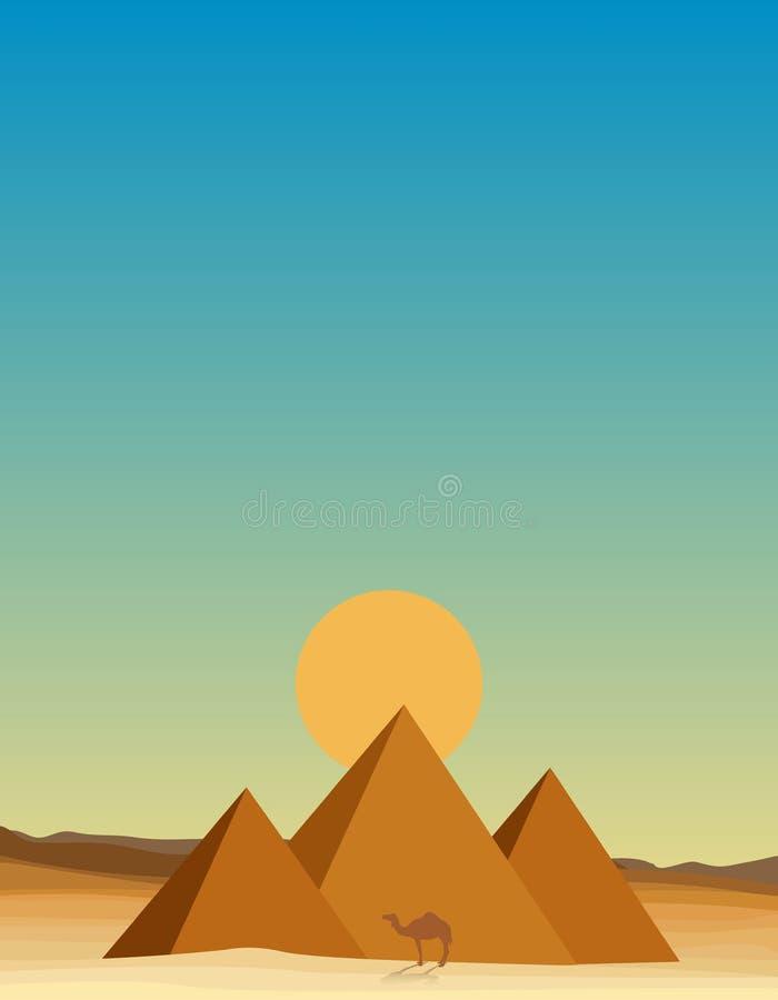 Egypten öken vektor illustrationer