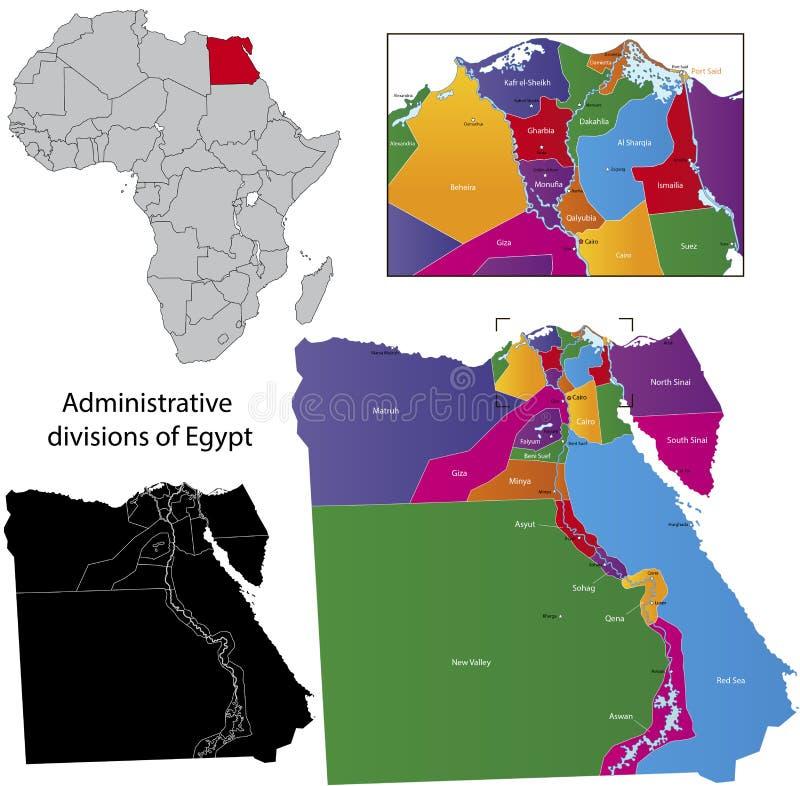 Egypten översikt royaltyfri illustrationer