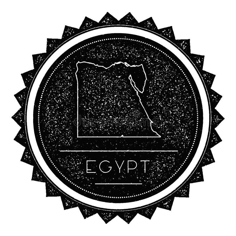 Egypten översiktsetikett med Retro tappning utformad design vektor illustrationer