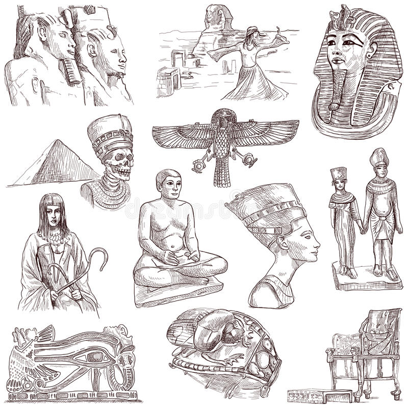 Egypten vektor illustrationer