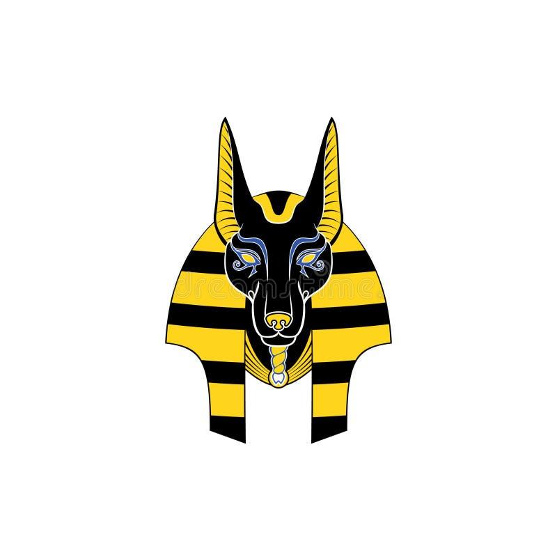 Egypten Anubis stock illustrationer