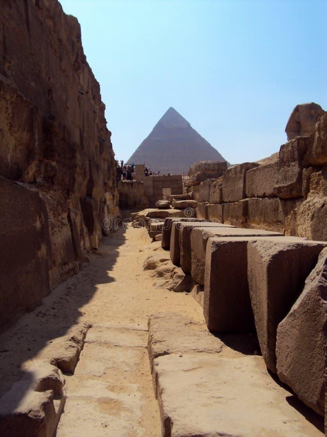 Egypten bakade i sol arkivbild