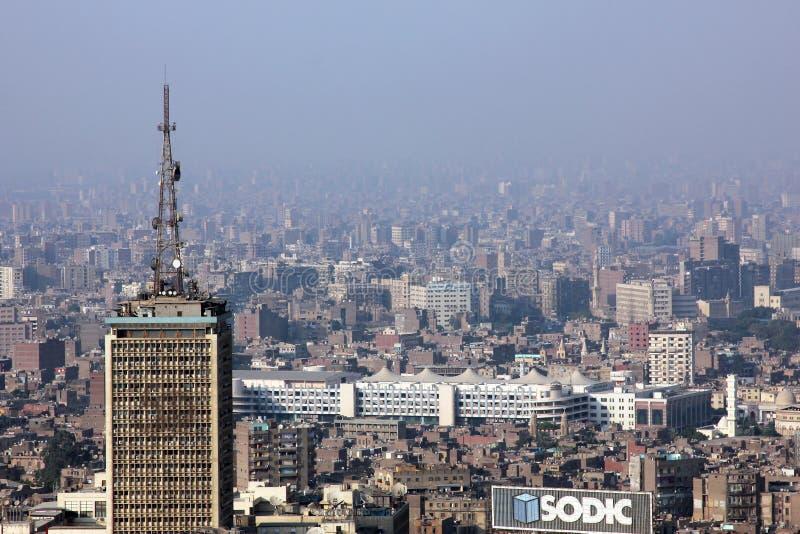 Egypten cairo horisont royaltyfria bilder