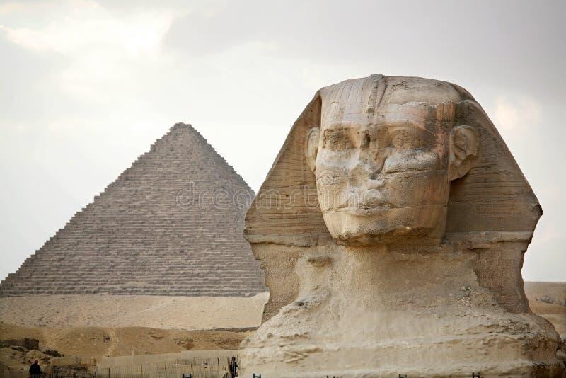 Egypten Giza, pyramider arkivfoton