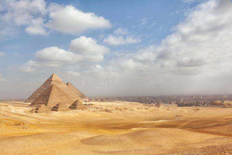Egypten Kairo - Giza royaltyfri fotografi