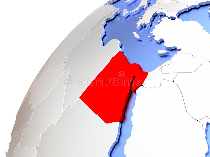 Egypten på det moderna skinande jordklotet vektor illustrationer