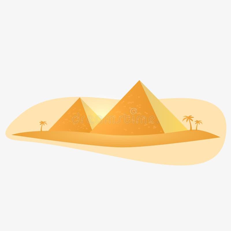 Egypten pyramid stock illustrationer