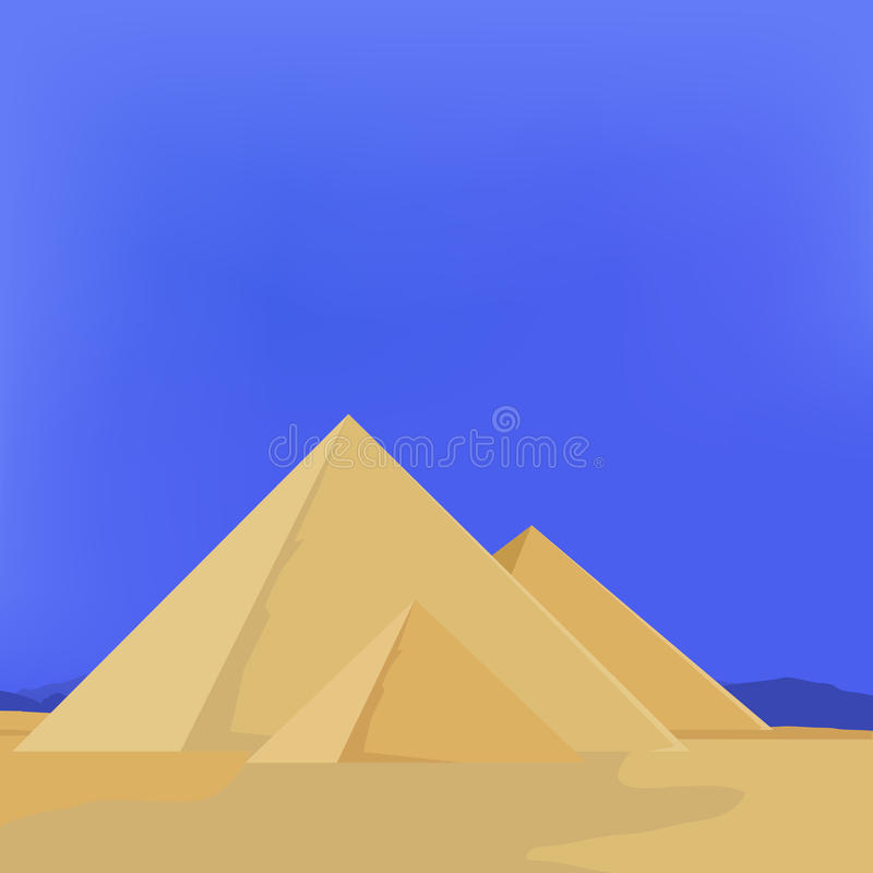 Egypten pyramider vektor illustrationer