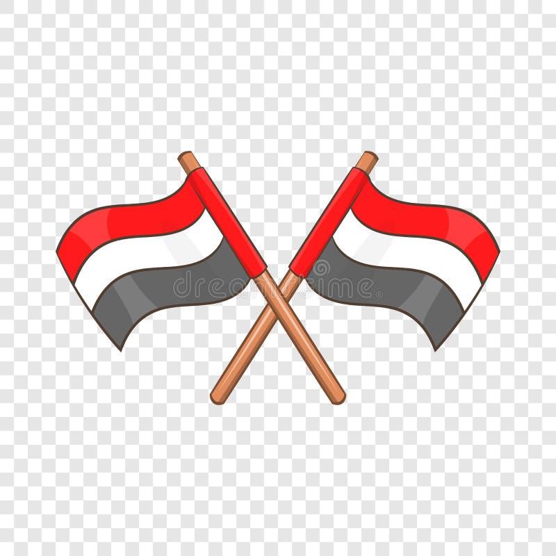 Egypten sjunker symbolen, tecknad filmstil stock illustrationer