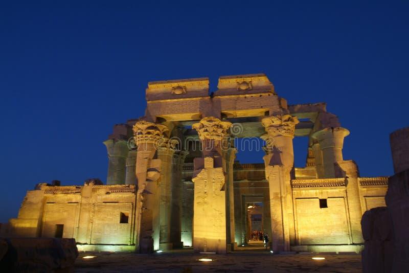 Egypten tempel av Kom Ombo royaltyfria bilder