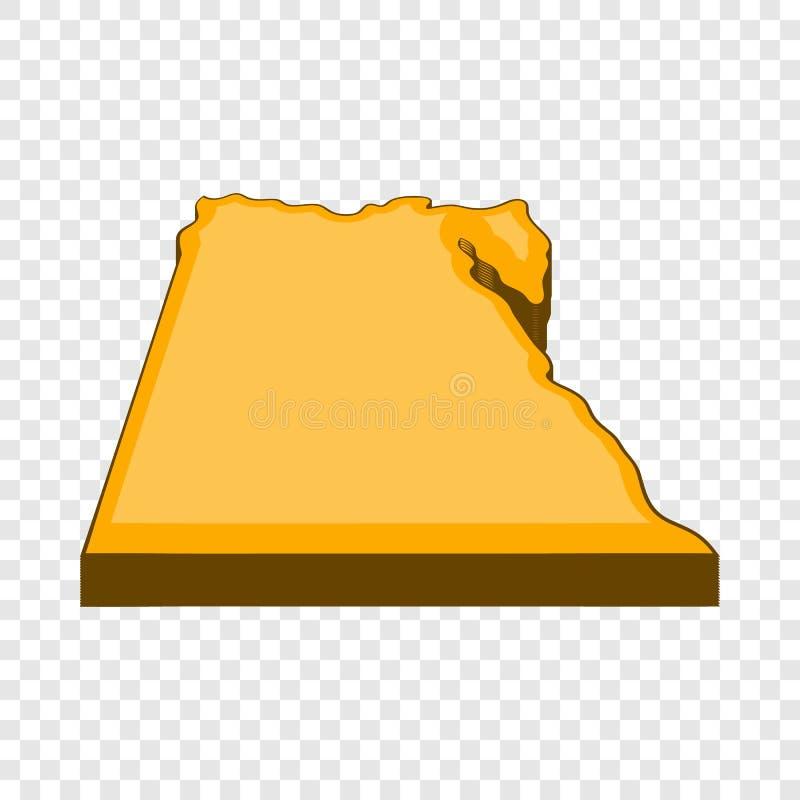 Egypten ?versiktssymbol, tecknad filmstil stock illustrationer