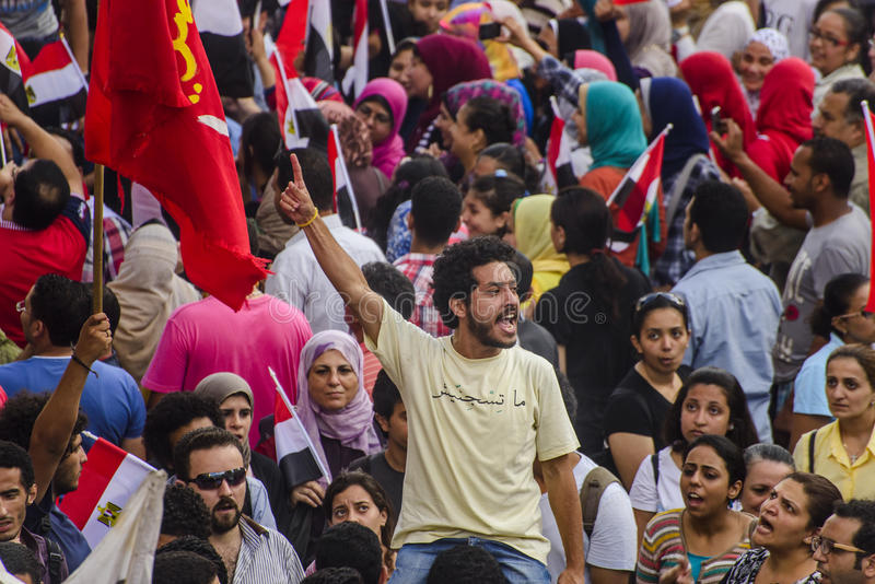 Egyptian Activist Protesting Against Morsy royalty free stock photos