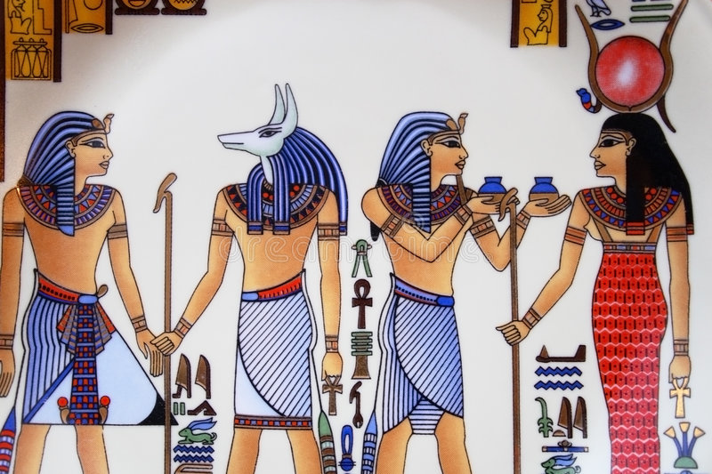 Egyptian art royalty free stock photography