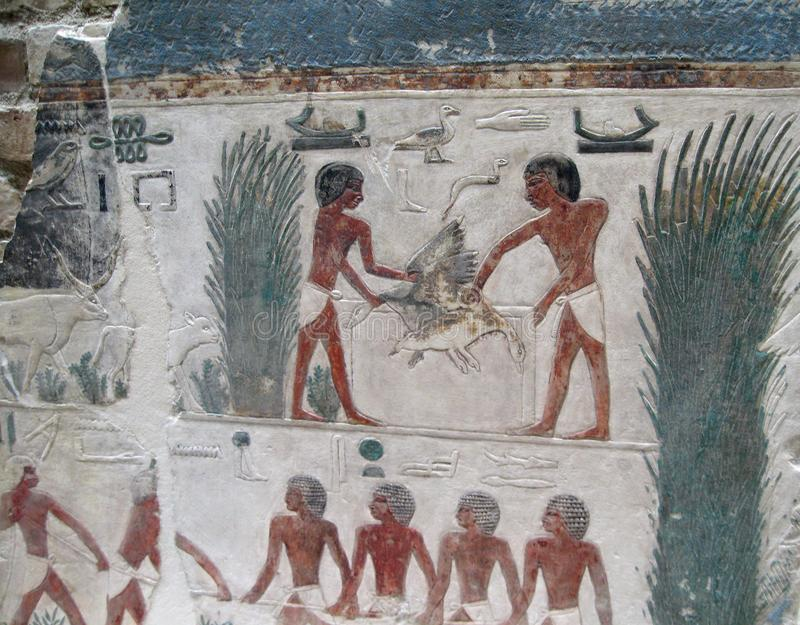 Download Egyptian Art Carving editorial photography. Image of fishing - 101230572