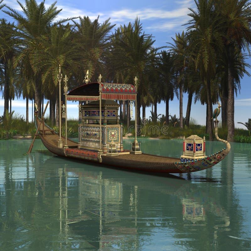 Download Egyptian Background stock illustration. Illustration of boat - 5112514
