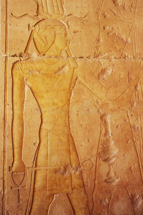 Egyptian bas relief royalty free stock photography