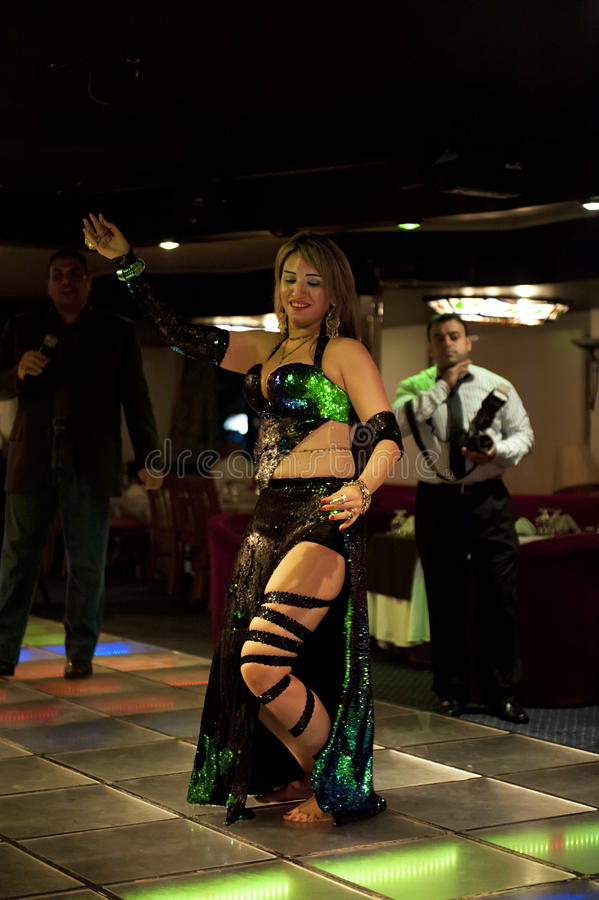 Egyptian belly dancer stock photography