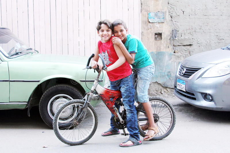 Egyptian boys stock photography