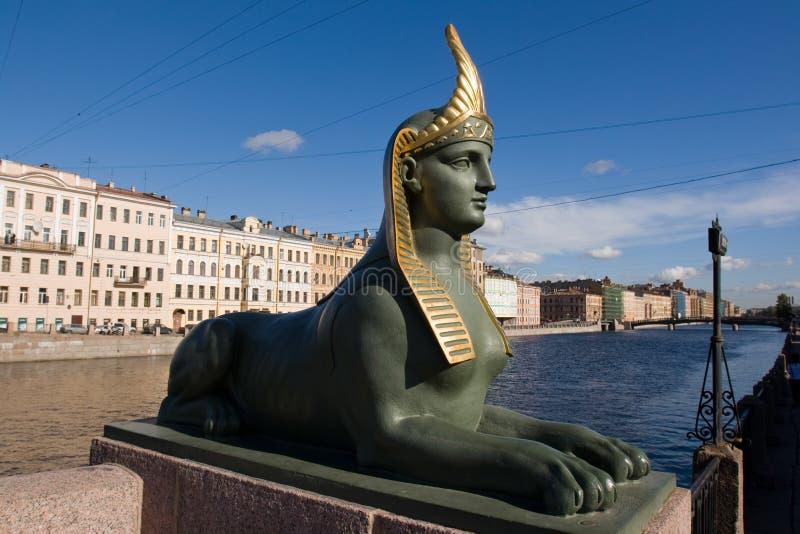 Egyptian bridge. Sphinx. royalty free stock photos