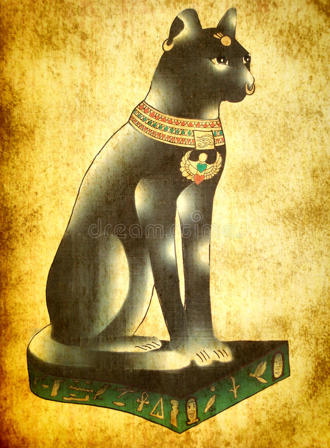 Egyptian cat Bastet stock photo