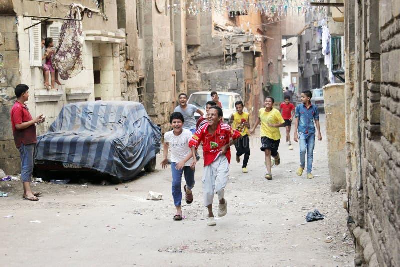 Egyptian children celebrating royalty free stock image