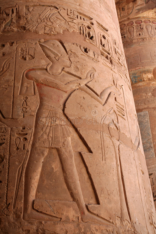 Download Egyptian Column stock image. Image of figure, hieroglyphs - 1224209