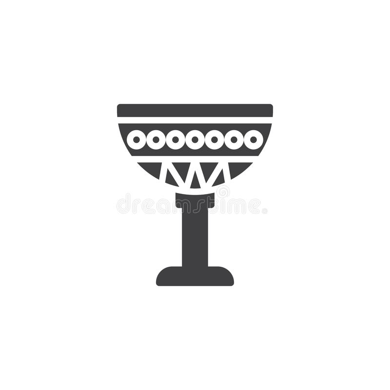 Egyptian Cup vector icon vector illustration