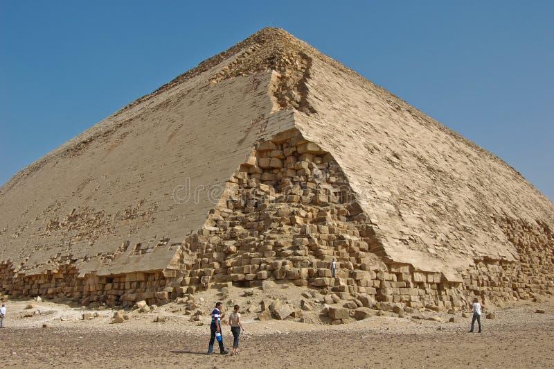 Egyptian damaged pyramid stock photography