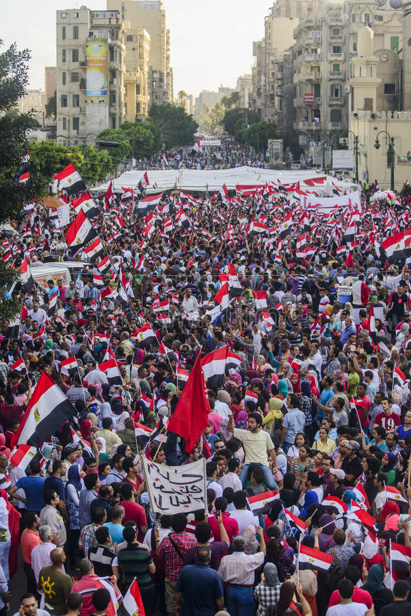 Egyptian Demonstration Against Morsy royalty free stock photo