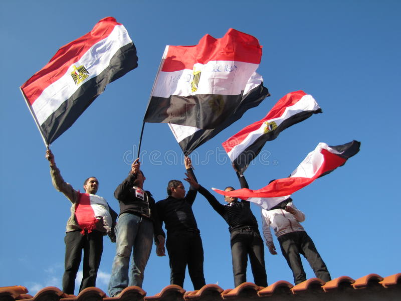 Download Egyptian Demostrators Waving Flags Editorial Photo - Image: 19890256