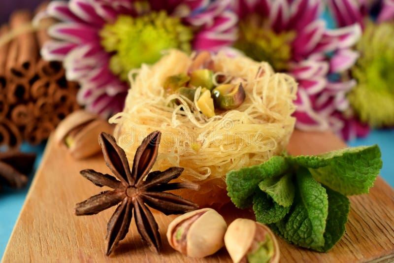 Egyptian dessert Kunafa royalty free stock photography