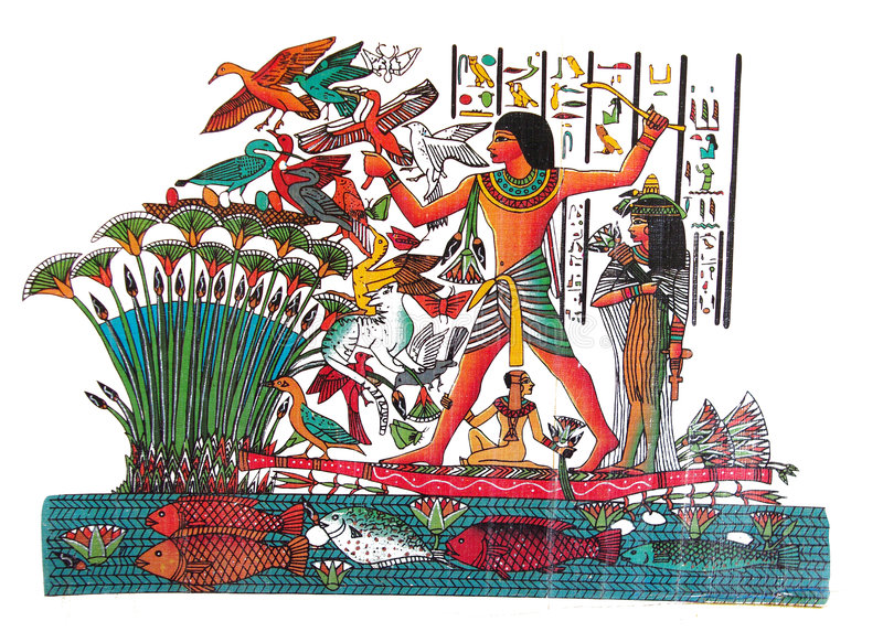 Egyptian drawing royalty free stock images