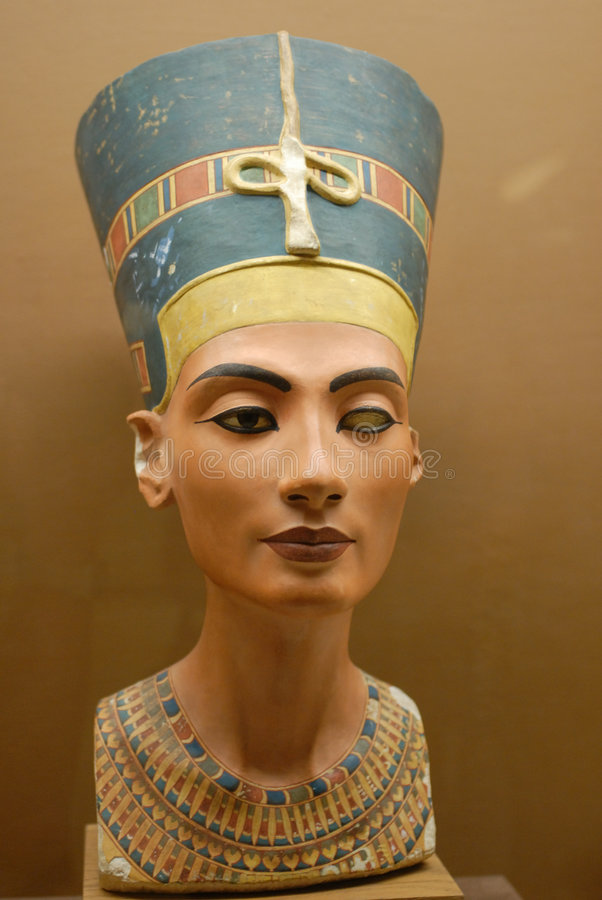 Egyptian figure of women stock photos