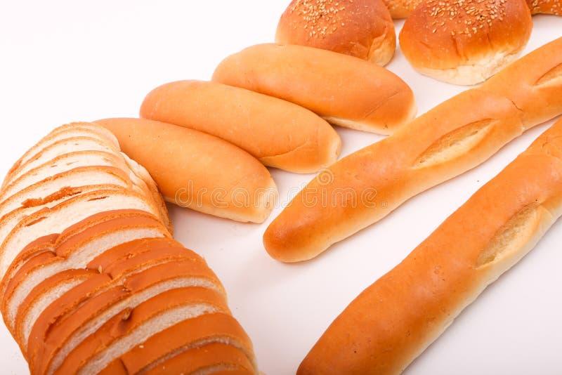 Egyptian Fino Bread. Variety of Fino bread on white background stock photos