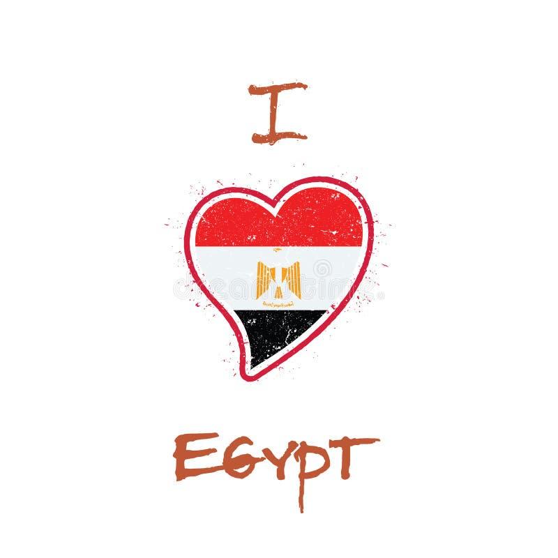 Egyptian Flag Patriotic T Shirt Design Stock Vector Illustration